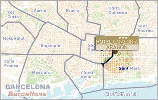 Hotel Catalonia Sagrada Familia Landkarte