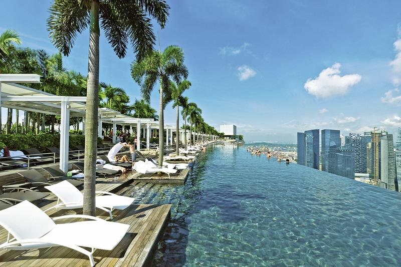 Traumhotel über den Wolken Marina Bay Sands Singapore