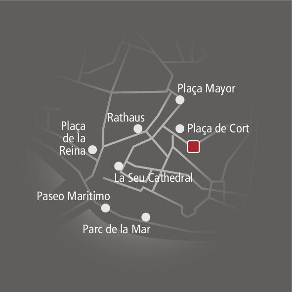 Sant Francesc Hotel Singular Landkarte