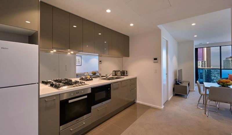 Melbourne Short Stay Apartments Lonsdale Street Badezimmer