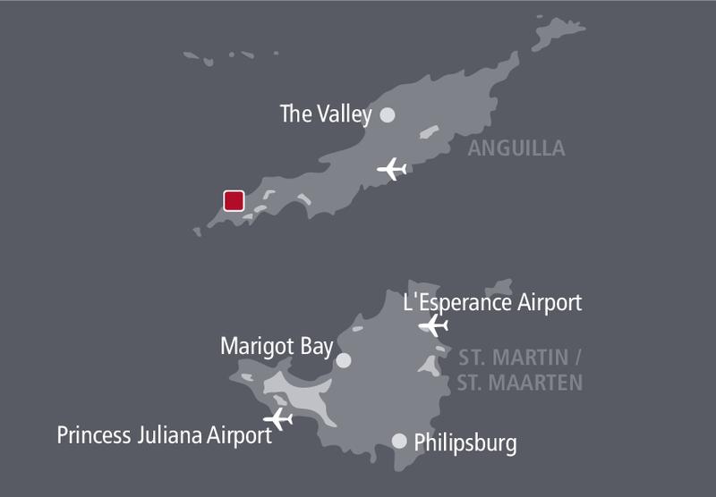Four Seasons Resort & Residences Anguilla Landkarte